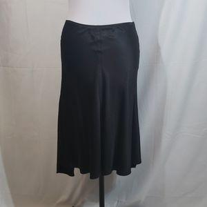 NWT Studio M Black Silk Blend High Low Skirt Small
